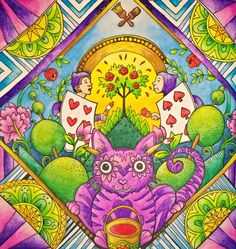 Escape to Wonderland ♠♥ Koh-i-noor Mondeluz #escapetowonderland #coloringbook…