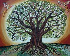 Tree of Life Symbolic Art with Phoenix | Flickr - Photo Sharing!