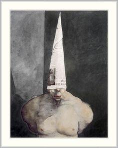 Michael Kvium, danish painter. I know it's creepy, but me and my husband love his art.