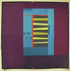 Songs of a Distant Lancaster by Tami Levin. A take on traditional Amish quilts, with solid fabrics, wide borders, Chinese coin medallion, and piecing of similar fabrics where there's not enough of one colour. Wool Quilts, Amish Quilts, Baby Quilts, Geometric Quilt, Quilt Modernen, Modern Muse, Contemporary Quilts, Small Quilts, Hanging Wall Art