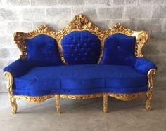 Rococo Furniture Settee Chair Antique by SittinPrettyByMyleen