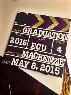 Film slate graduation cap