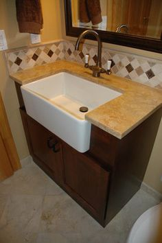 sink - bathrooms Pinterest Farmhouse Bathroom Sink, Farmhouse ...