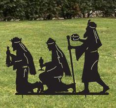 Three Wisemen / Silhouette / 3 / Wise Men / Garden Stake / Christmas Decoration / Outdoor / Metal / Garden / Yard Art / Lawn Ornament by RusticaOrnamentals on Etsy https://www.etsy.com/listing/207762085/three-wisemen-silhouette-3-wise-men