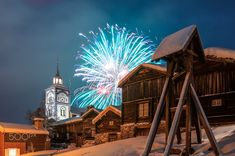Fireworks over the old mining town - At midnight on New Year's Eve, the public firework display illuminates this historic copper mine town in a multitude of colors.