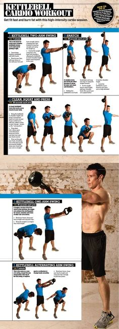 High Intensity Kettlebell Cardio Workout Infographic | Posted By: NewHowToLoseBellyFat.com