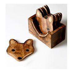Sass & Belle Fox Wooden Coaster Set - currently out of stock