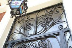 Iron door with glass - Art Deco