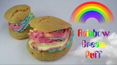 Rainbow Cream Puffs | Noan