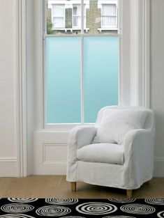 Privacy.....love the frosted blue glass
