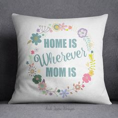 long distance mother daughter pillow-mother day by Pillow6218 ...