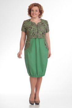 Платье оливковое льняное - заказать и купить с доставкой в интернет-магазине «L'MARKA»