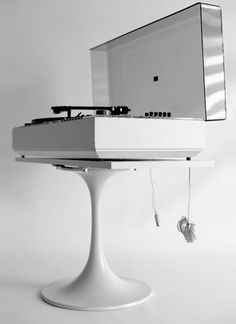 Vintage white WEGA Studio 3207 HiFi, with DUAL turntable, from the 1970s