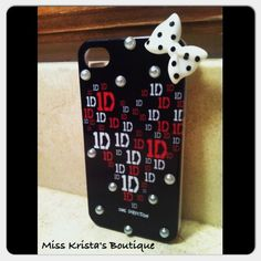 Super cute one of kind one direction iphone case :) available in iPhone 4! :) you won't find these anywhere else! Don't miss out.