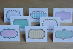 Delightful Distractions: PRINTABLE note cards/place cards/ gift tags, free download.