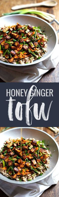 Honey Ginger Tofu an