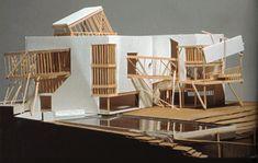 frank gehry unbuilt design for the Familian Residence. inSanta Monica,California, 1978