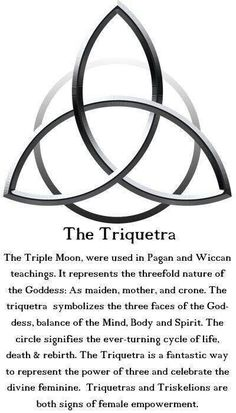 The Triquetra, this is my next tatt! Celebrate our feminine power