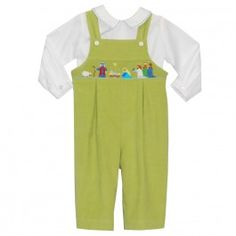 Smocked Nativity Boys Overall - $69.90