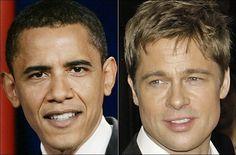 Barack Obama y Brad Pitt