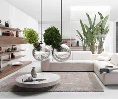 Unusual flower pot living room