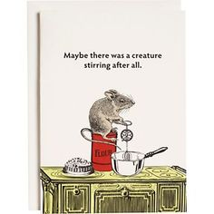 Creature Stirring Holiday Cards - whimsical humor adds a laugh to your holiday cheer message.