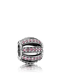 Pandora Charm - Sterling Silver & Pink Cubic Zirconia Leading Lady