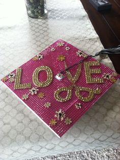 Cosmetologist theme graduation cap