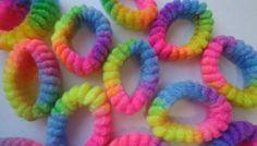 RAINBOW scrunchies ponytail tie dye by CandraMikaylah on Etsy, $4.00