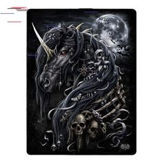 New Ideas Diytattooimages Diy Tattoo Images In 2020 With Images Evil Unicorn Horse Skull Dark Art Drawings