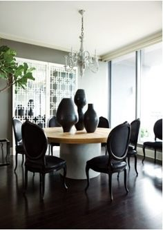 Seriously there is nothing better than glass black French furniture :D Louis Louis!