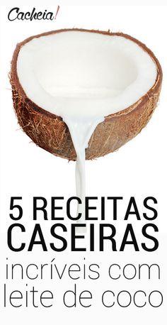 5 receitas caseiras para cabelo cacheado com leite de coco Hidratações caseiras baratas - como cuidar dos cachos em casa? Receita caseira para cabelo
