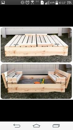 Sandbox with hinged cover