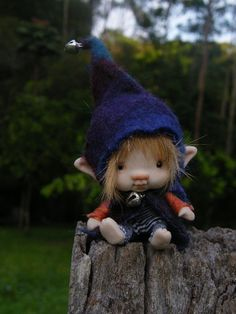 Sweet  just  35  inches  tiny elf fairy by throughthemagicdoor