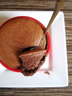 Chocolate Greek yogurt souffles; light, tangy, and a perfect dessert for Spring!