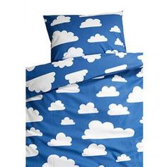 Moln Cloud Blue Children's Bed Set 130cm x 100cm