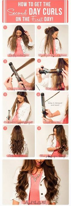 Hair Easy Curls Awesome Ideas For 2019 Hair Day, My Hair, Curls Hair, Pretty Hairstyles, Braided Hairstyles, Curling Wand Hairstyles, Hairstyle Men, Funky Hairstyles, Formal Hairstyles