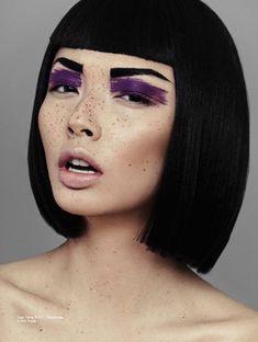 Purple shadow.