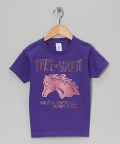 Take a look at this Purple Bling Free Spirit Tee - Toddler & Girls by Rodeo Rags on #zulily today!