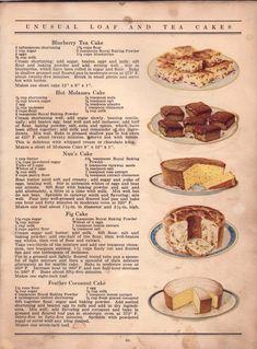 Cookbook Recipes, Baking Recipes, Dessert Recipes, Retro Recipes, Vintage Recipes, 1950s Food, Vintage Baking, Vintage Food, Turkey Burger Recipes
