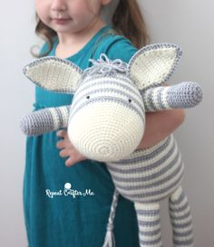 Yarnspirations released an adorable new FREE lookbook filled with patterns for baby! You can see my review of it HERE. One of my favorite patterns was the Knit Zebra…but since I don't knit, I asked Yarnspirations if they would allow me to come up with a crochet version. I am so happy that they agreed! …