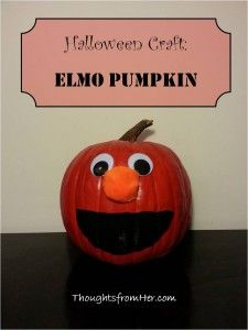 Elmo Pumpkin {Thoughts From Her}