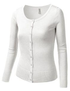 BIAGIO Women Button Down Long Sleeve Basic Soft Knit Cardigan ...