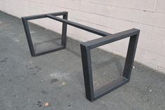 Economy Style Welding Custom Rectangle Shape Stainless Steel Table Legs Metal Table Base by ChicagoFabrications