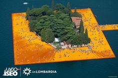 L'Isola di San Paolo incorniciata dalla visione di Christo: #thefloatingpiers