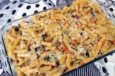 Ζυμαρικά με καλοκαιρινά λαχανικά και τυρί στον φούρνο-μικρή κουζίνα