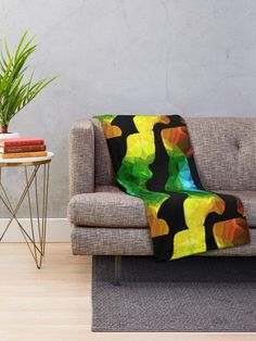 Bold,bright and colorful to brighten any room.Soft and warm for cold days.Green,red and yellow abstracto Comforter Green,red and yellow abstracto Throw Blanket