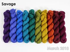 The highest quality hand-dyed, just for you. Crochet Yarn, Gradient Color, Yarns, Color Combos, Savage, Spinning, Thread Crochet, Hand Spinning, Colour Schemes