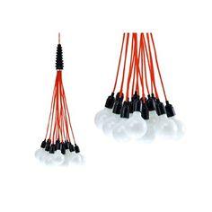 Leitmotiv Hanglamp Bundel of Light Rood Leon Cuppen