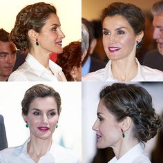 Queen Letizia of Spain wows with effortlessly chic braided hairstyle